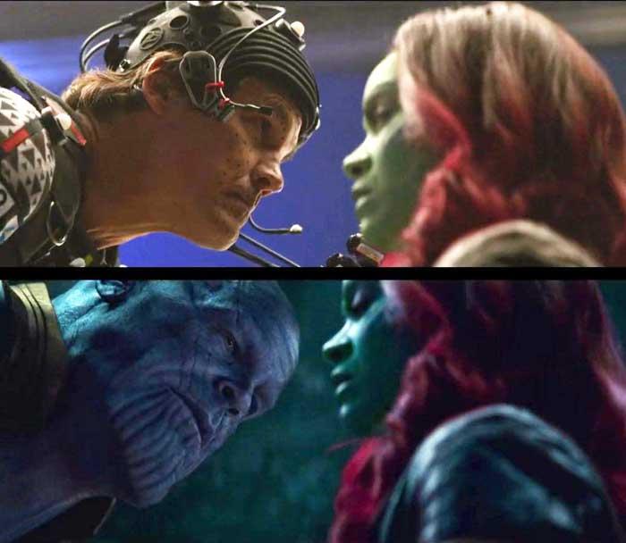 Gamora en Vengadores Infinity War de Marvel Studios