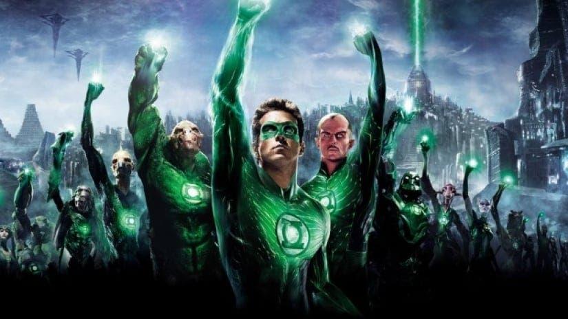 Banner de Linterna Verde con Ryan Reynolds como Hal Jordan