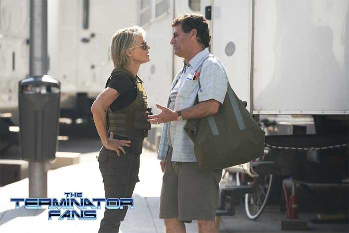 Linda Hamilton como Sarah Connor en Terminator 6 de James Cameron