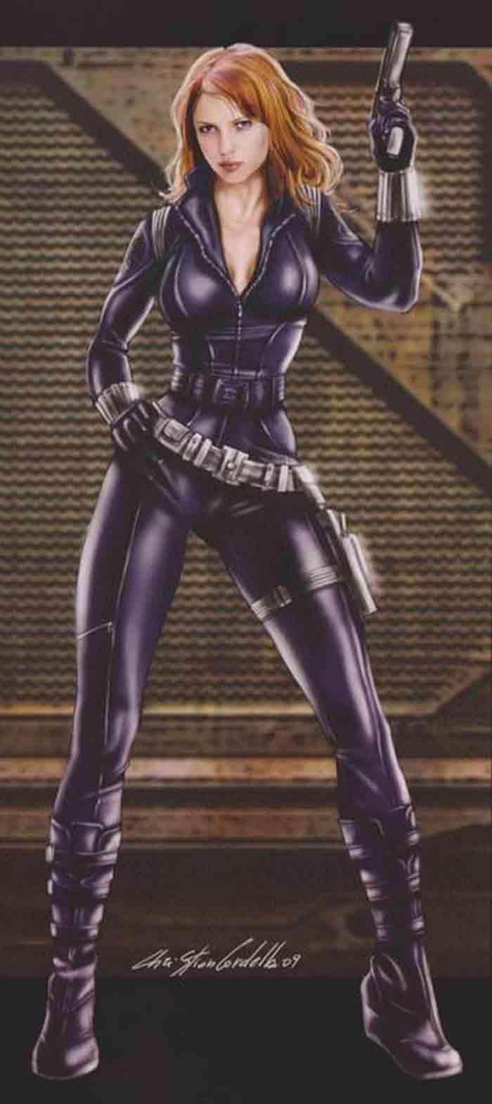 Diseño alternativo de Viuda Negra (Scarlett Johansson) en Marvel Studios