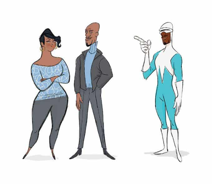 The Art of Incredibles 2 (Los increíbles 2) visual development concept art 14