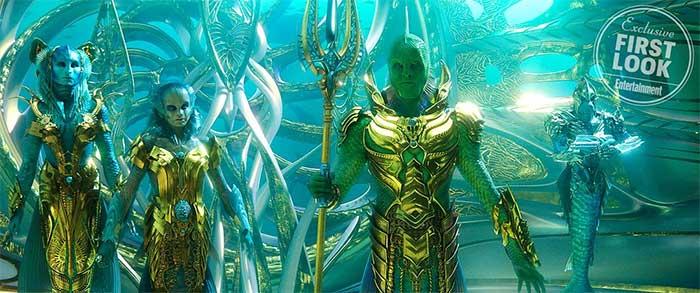 Warner Bros y DC publican una foto de aquaman tritones