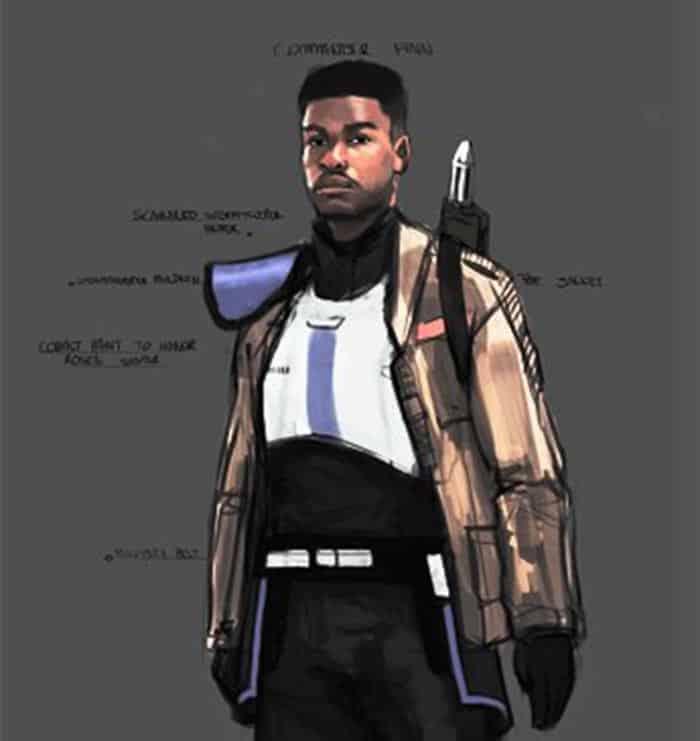 Concept art de Finn en Star Wars 9