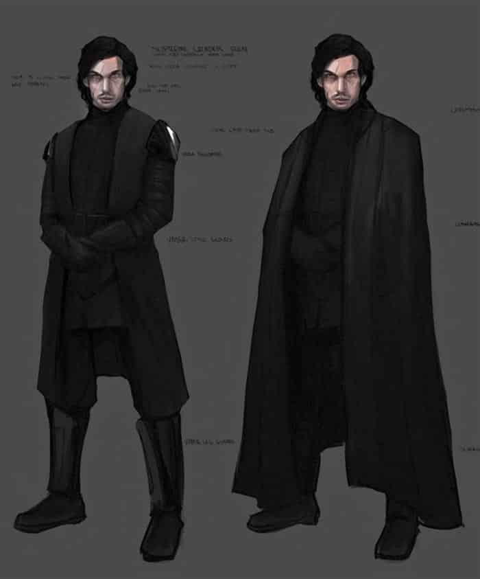 Concept art de Kylo Ren en Star Wars 9