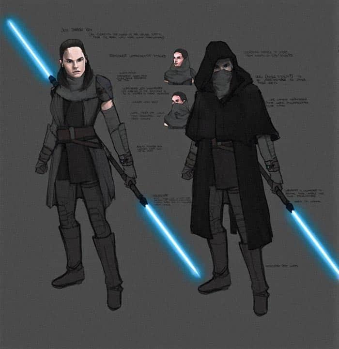 Concept art de Rey en Star Wars 9