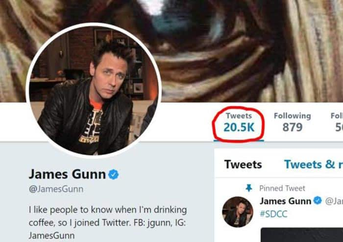 20.000 tuits de James Gunn