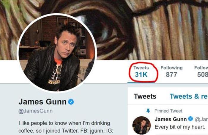 31.000 tuits de James Gunn