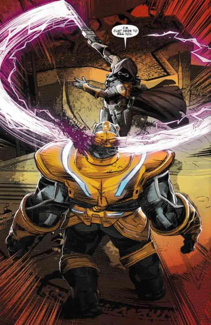 La muerte de Thanos en Infinity Wars Prime (Marvel Comics)