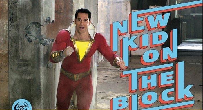 Shazam feliz con sus superpoderes
