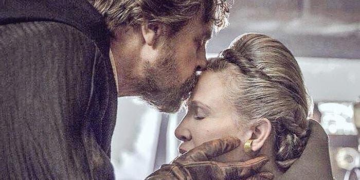 Mark Hamill y Carrie Fisher en Star Wars 9