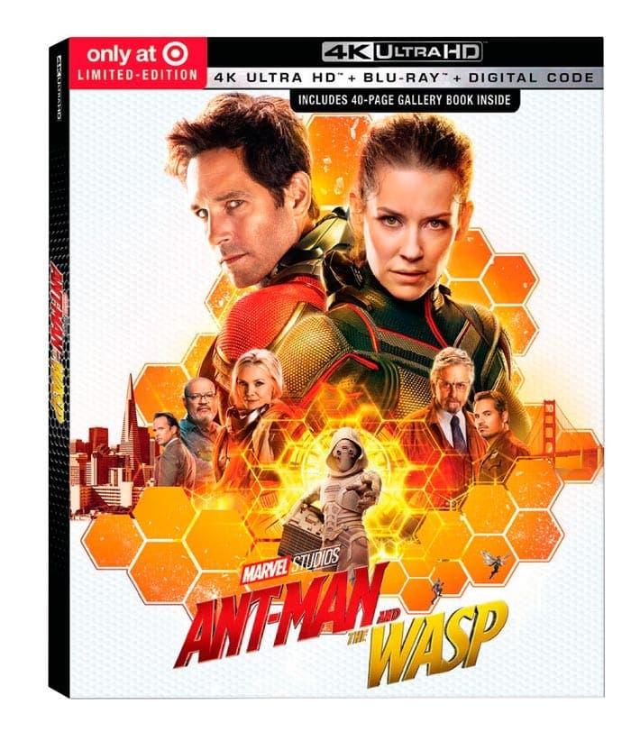 Ant-man y la avispa portada blu-ray 4k