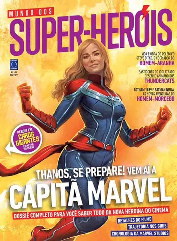Brie Larson como Capitana Marvel en la revista Mundo Dos