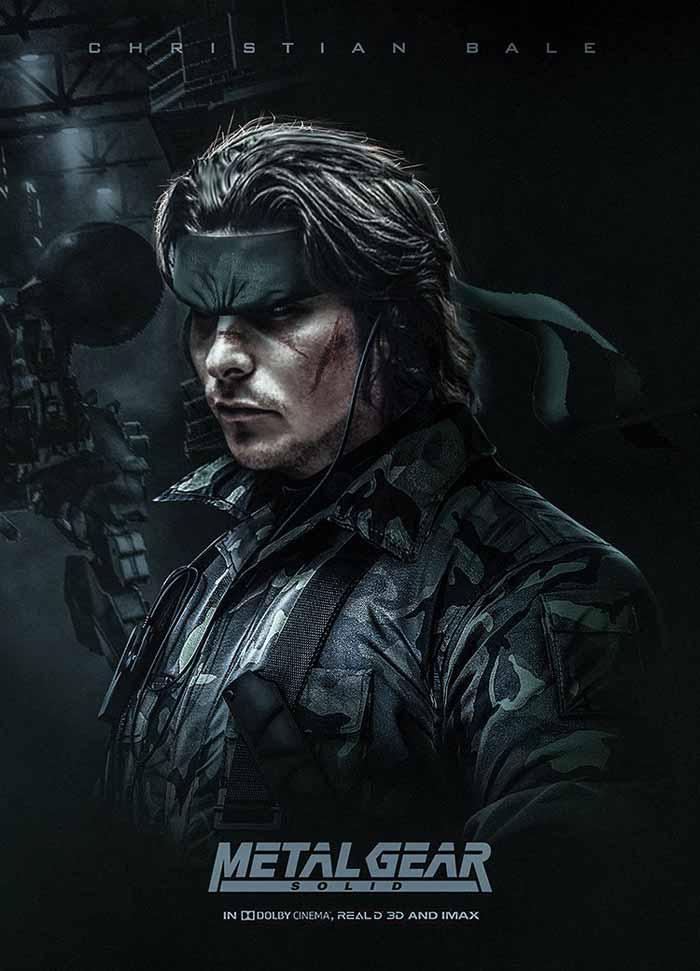 Christian Bale como Snake en Metal Gear Solid