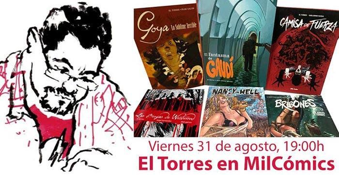 El Torres estará en MilCómics.com en Agosto 2018