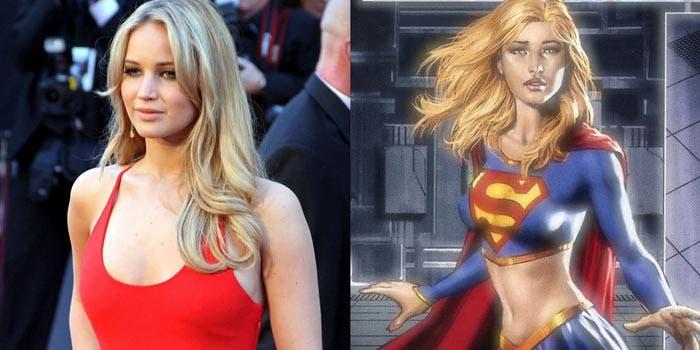 Jennifer Lawrence como Supergirl