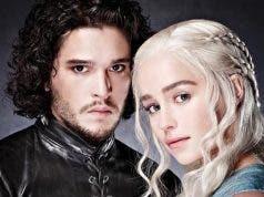 Jon Nieve y Daenerys Targaryen en el final de Juego de Tronos