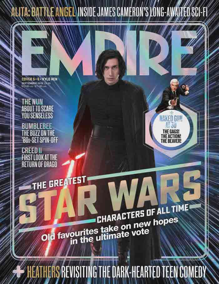 Star Wars 9: Kylo Ren como portada de Empire
