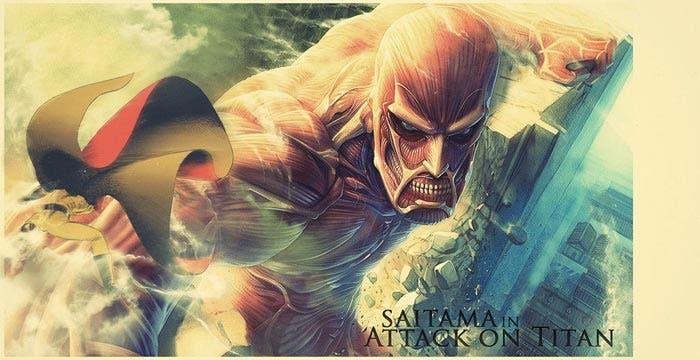 One Punch Man hace un crossover con Ataque a los Titanes
