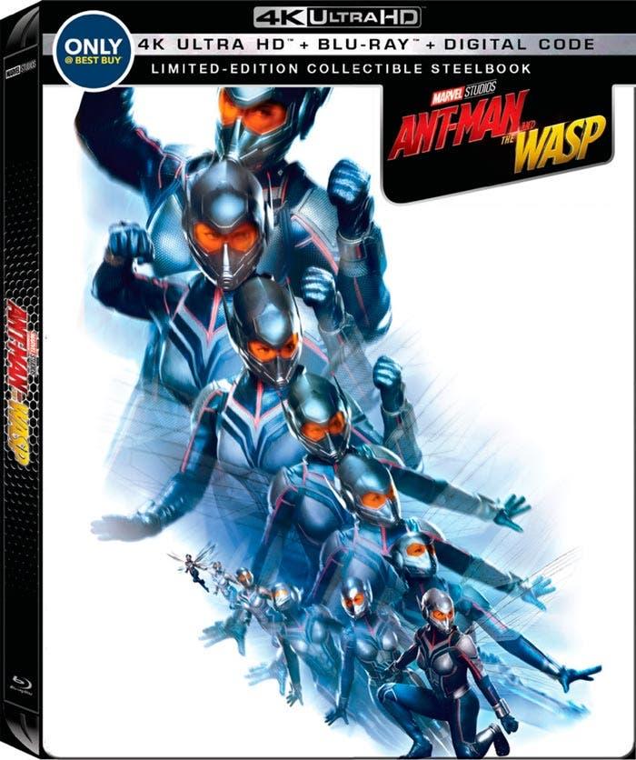 portada steelbook blu-ray 4k de Ant-man y la avispa