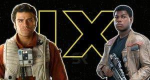 Poe Dameron y Finn en Star Wars 9