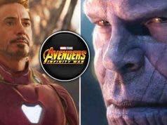 Thanos y Iron Man en Vengadores: Infinity War (Marvel Studios)