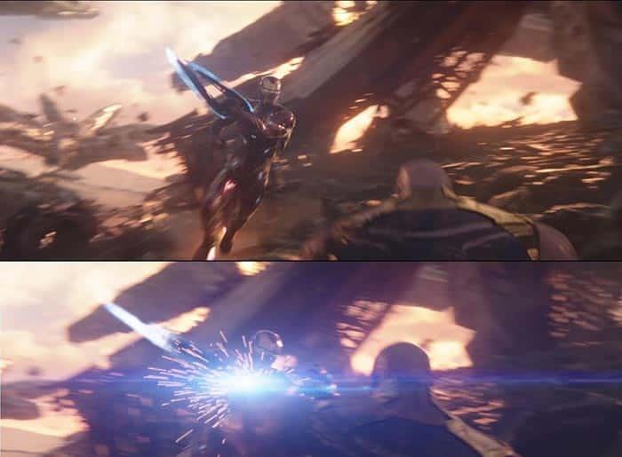 Iron Man estuvo a punto de matar a Thanos, como se ve en Vengadores: Infinity War Blu Ray
