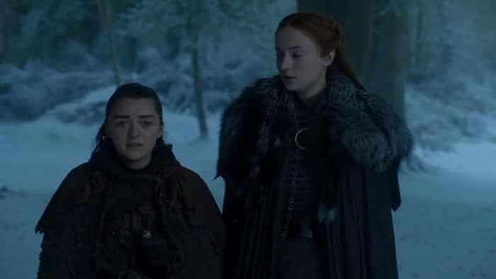 Arya y Sansa Stark en Juego de Tronos