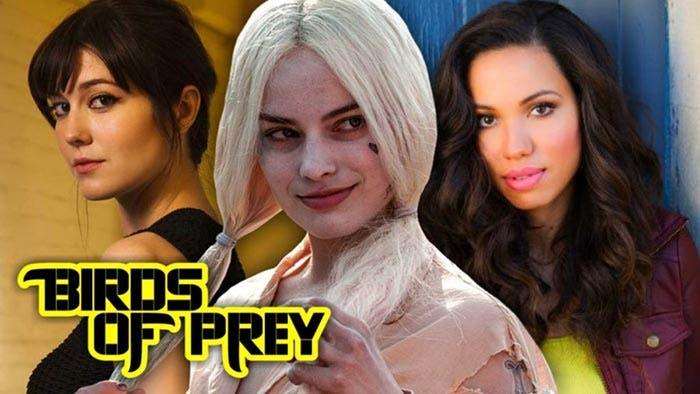 Mary Elizabeth Winstead (Cazadora), Jurnee Smollett-Bell (Canario Negro) y Margot Robbie (Harley Quinn) en Aves de Presa (2020)