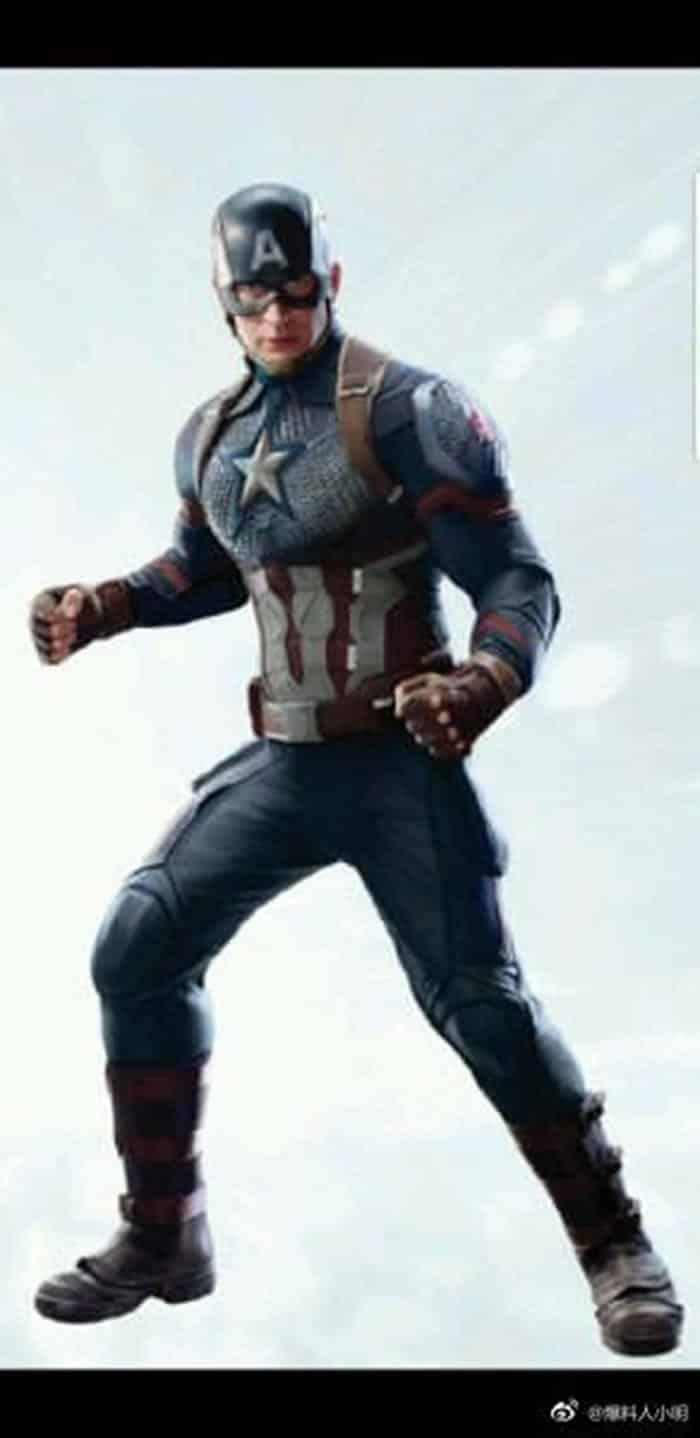 El look de Capitán América en Vengadores 4