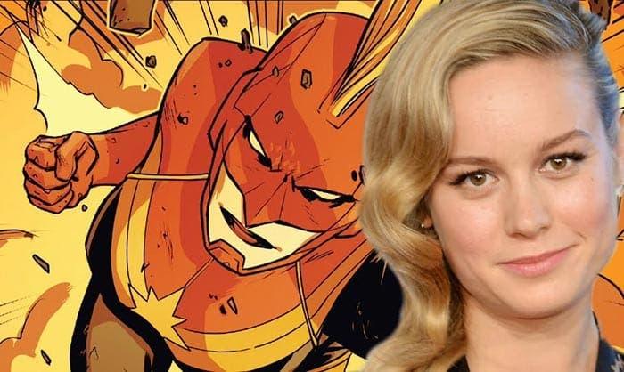 Capitana Marvel (Brie Larson) con casco y cresta