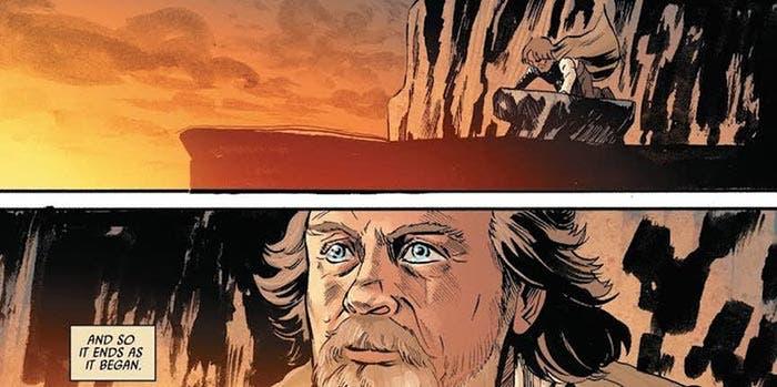 El final del cómic de Star Wars: Los Últimos Jedi con Luke Skywalker