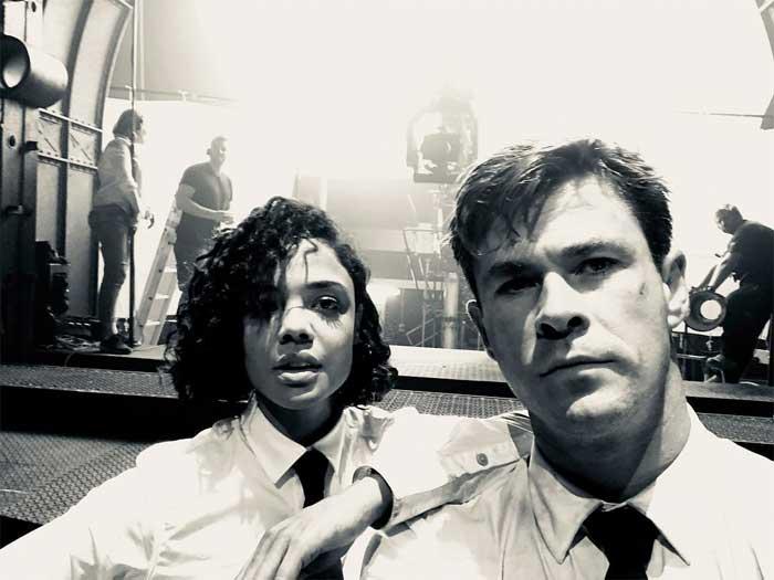Men in Black Chris Hemsworth y Tessa Thompson