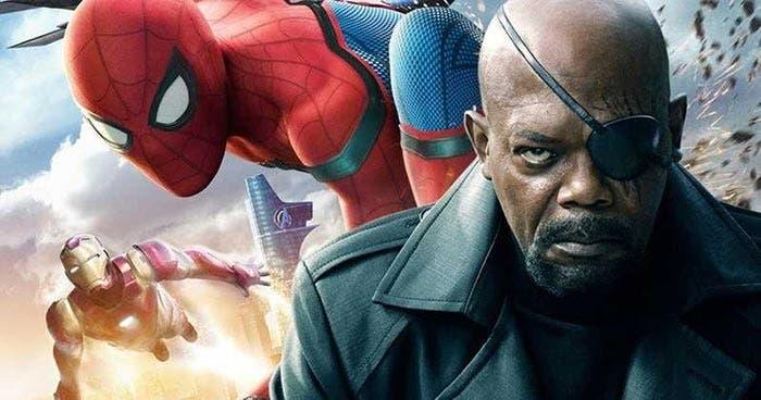 Nick Furia en Spider-Man: Lejos de casa (Marvel Studios)