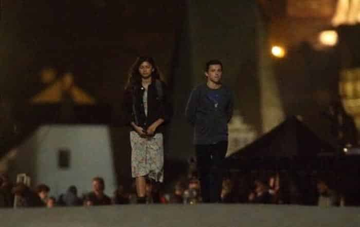 Peter Parker (Tom Holland) y MJ (Zendaya) en Spider-Man: Lejos de casa