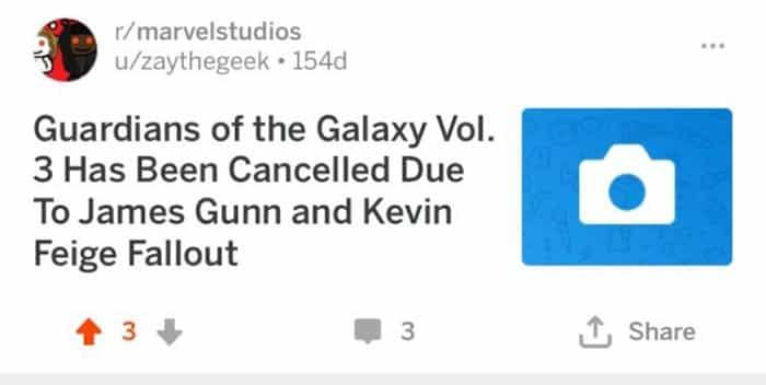 El despido de James Gunn de Marvel fue vaticinado hace mucho tiempo