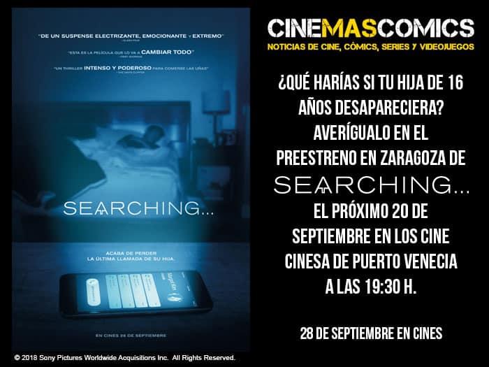preestreno en Zaragoza de Searching