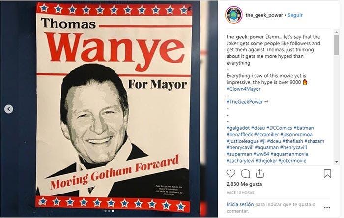 Thomas Wayne como alcalde en Joker (2019)