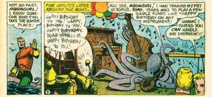 Topo en los cómics de Aquaman