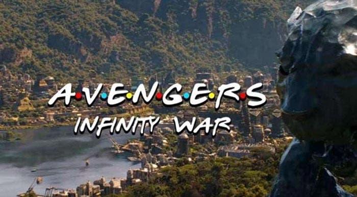 Vengadores: Infinity War versión Friends