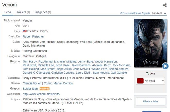 El cameo de Spider-Man (Tom Holland) en Venom