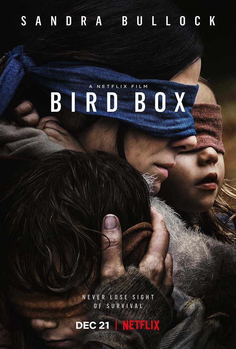 Poster de A ciegas bird box con Sandra Bullock