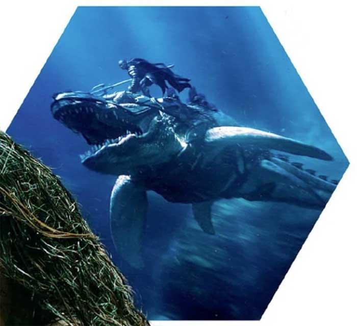 Aquaman: Primera imagen de Willem Dafoe cabalgando un tiburón