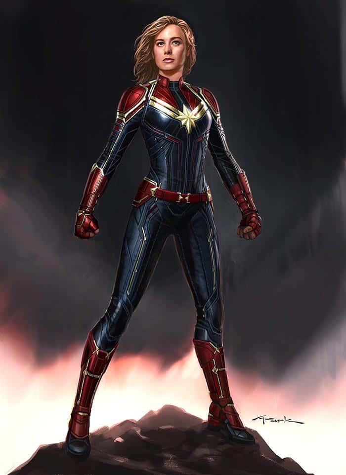 El arte conceptual de Andy Park con Brie Larson como Carol Danvers en Capitana Marvel (2019)