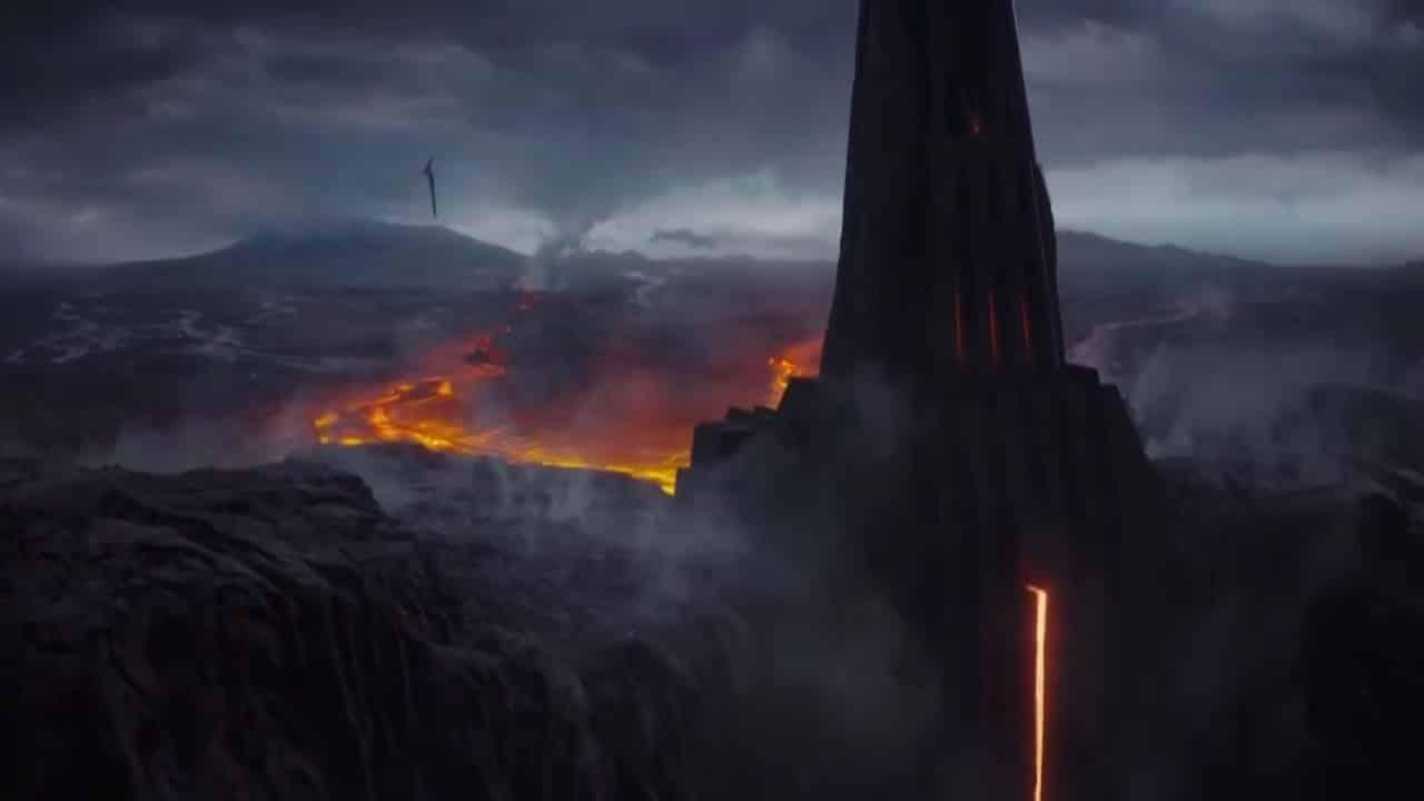 star Wars castillo de Darth Vader en Mustafar