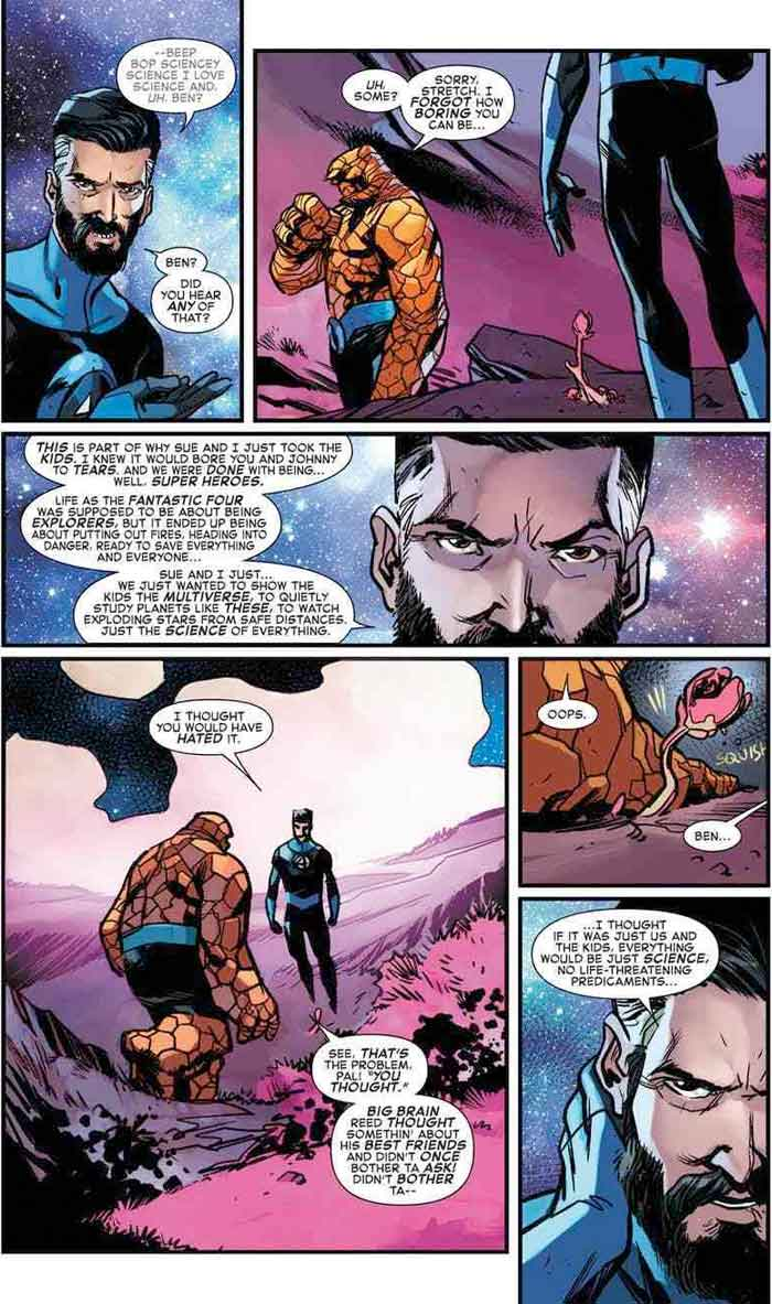 Razón por la que Los Cuatro Fantásticos abandonaron el Universo Marvel