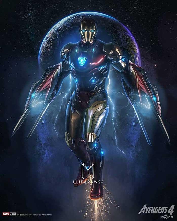 Vengadores 4: Fan Art de la armadura espacial de Iron Man