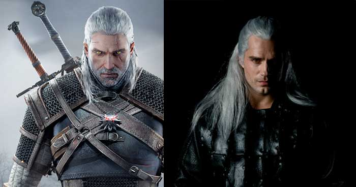 Filtran el aspecto real de Henry Cavill en el rodaje de The Witcher