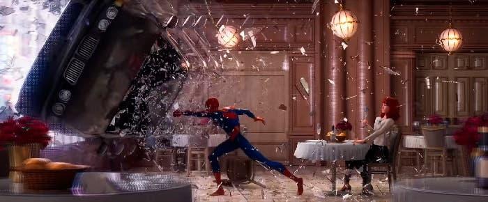 homenaje a spider-man de Sam Raimi