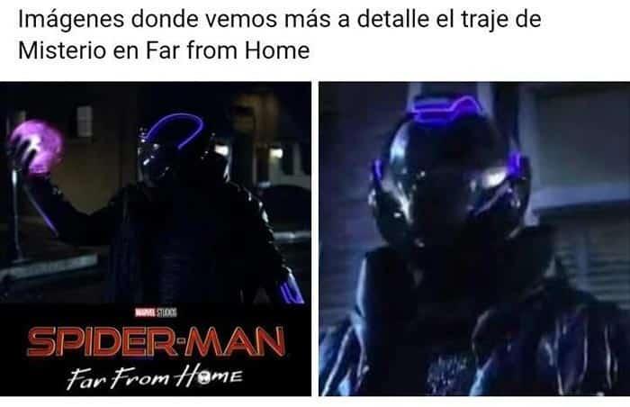 La imagen falsa de Mysterio en Spider-Man: Lejos de casa