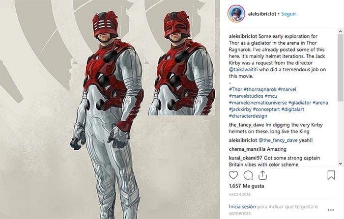 El traje de gladiador de Marvel Studios distinto en Thor: Ragnarok (2017)